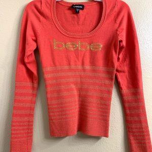 🔥3 for $15🔥 Bebe scoop neck sweater top
